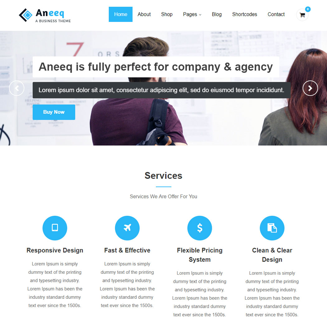 Aneeq WordPress Theme