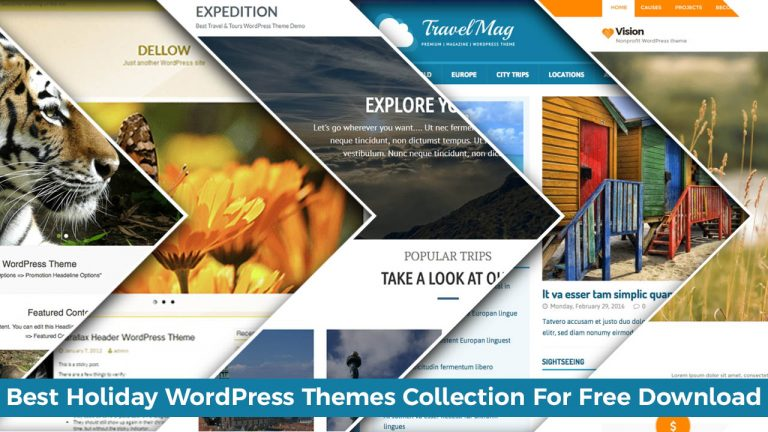 Best Holiday WordPress Themes Collection For Free Download
