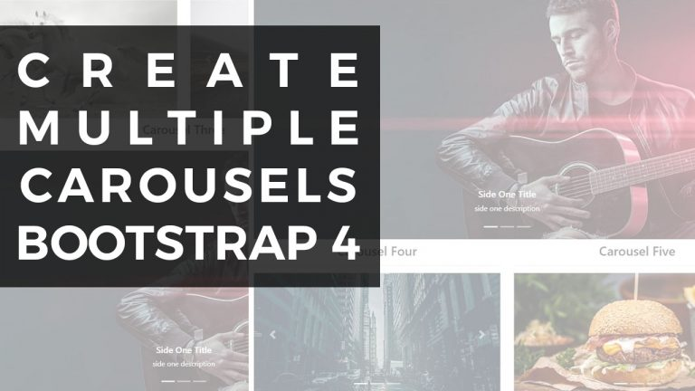 Create Multiple Carousels Bootstrap 4
