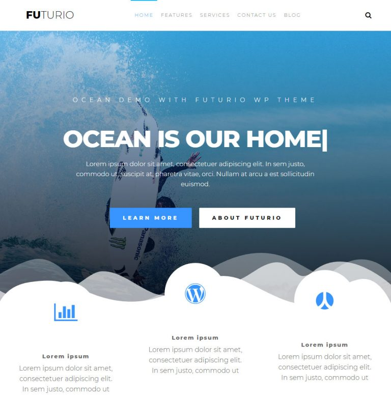 Futurio WordPress Theme