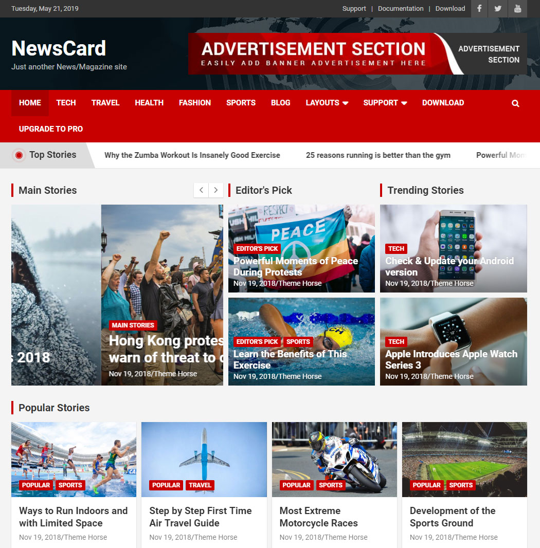 NewsCard WordPress Theme