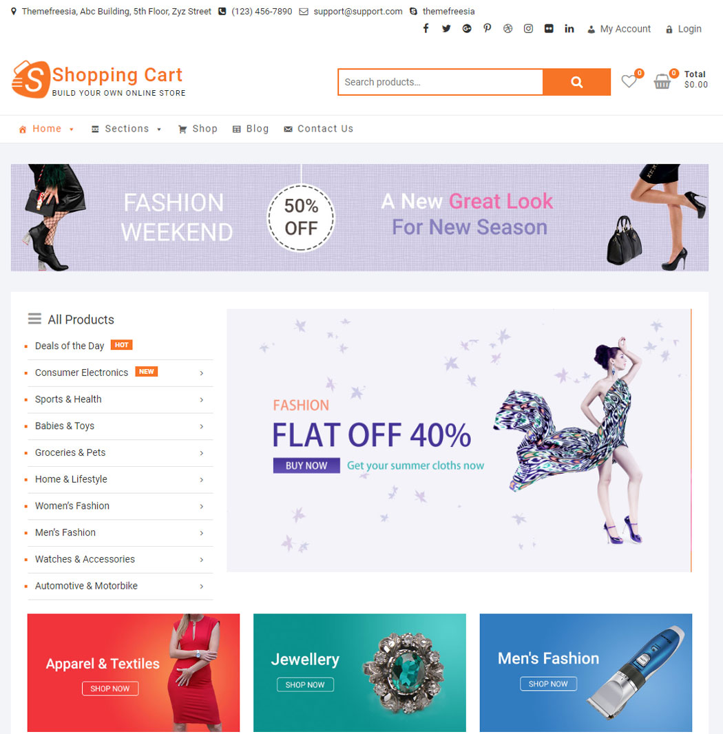 ShoppingCart WordPress Theme