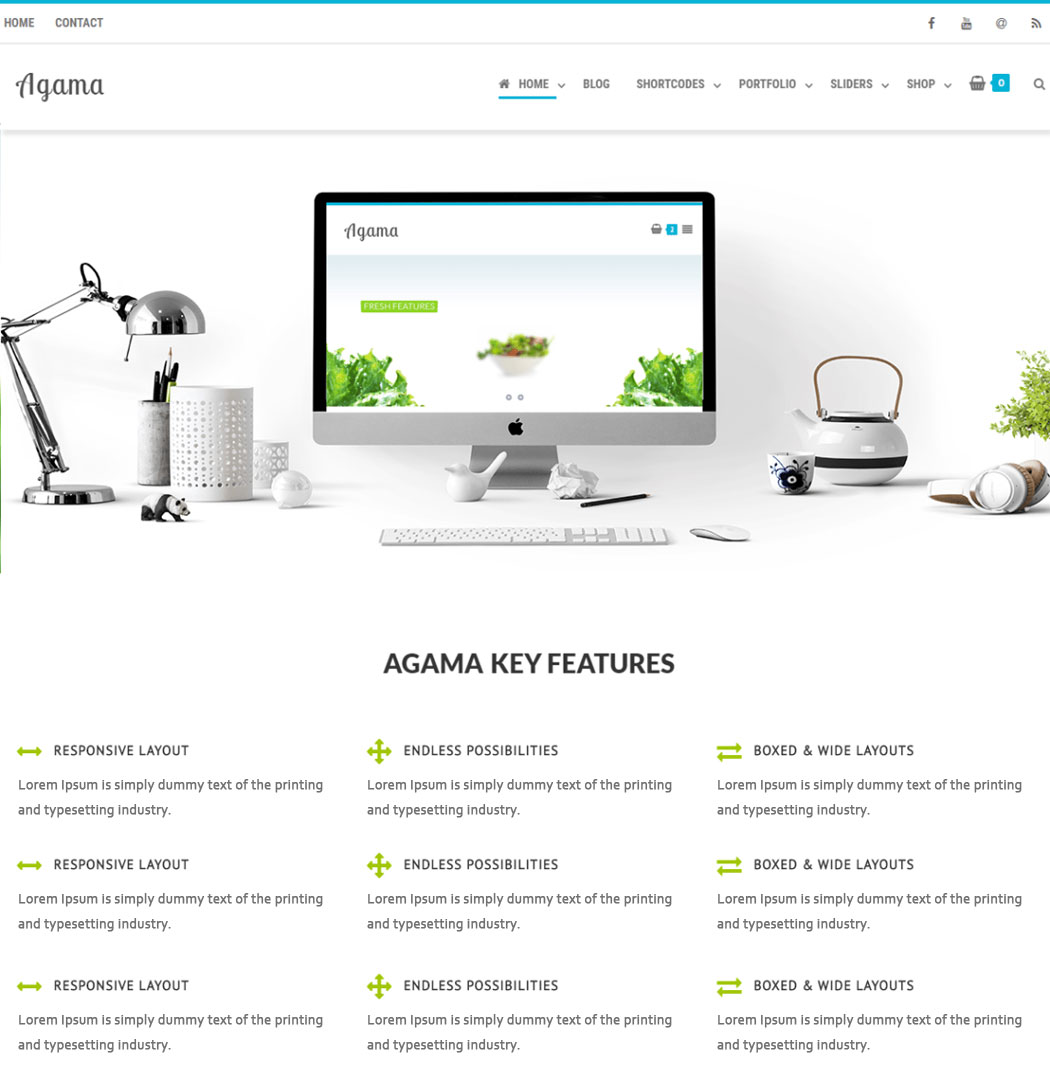 Agama WordPress Theme