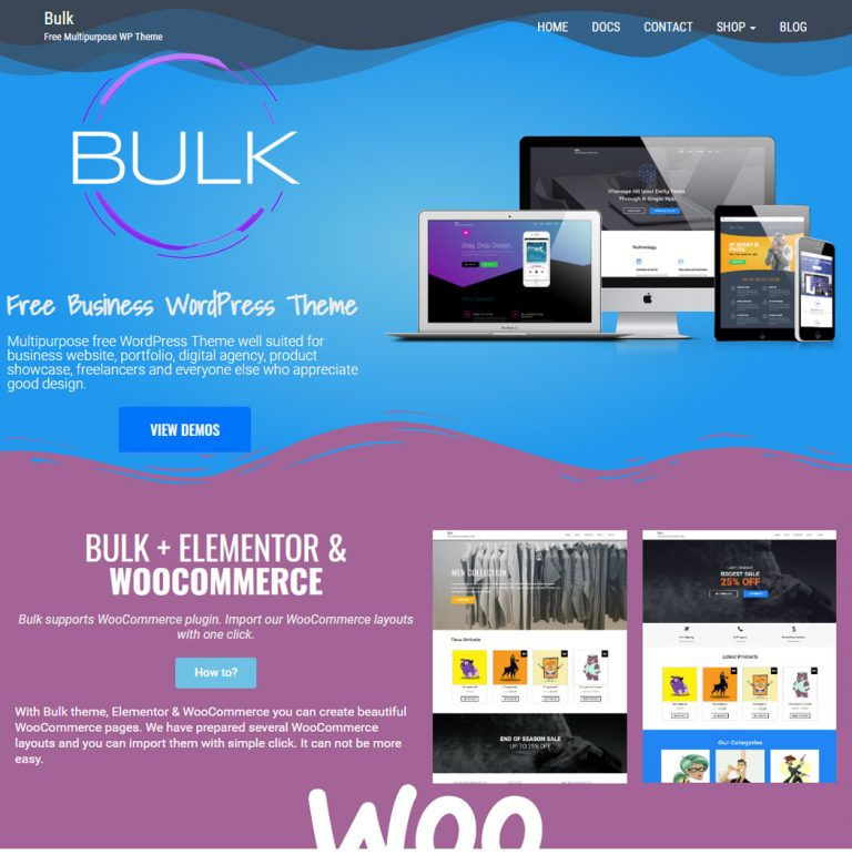 Bulk WordPress Theme