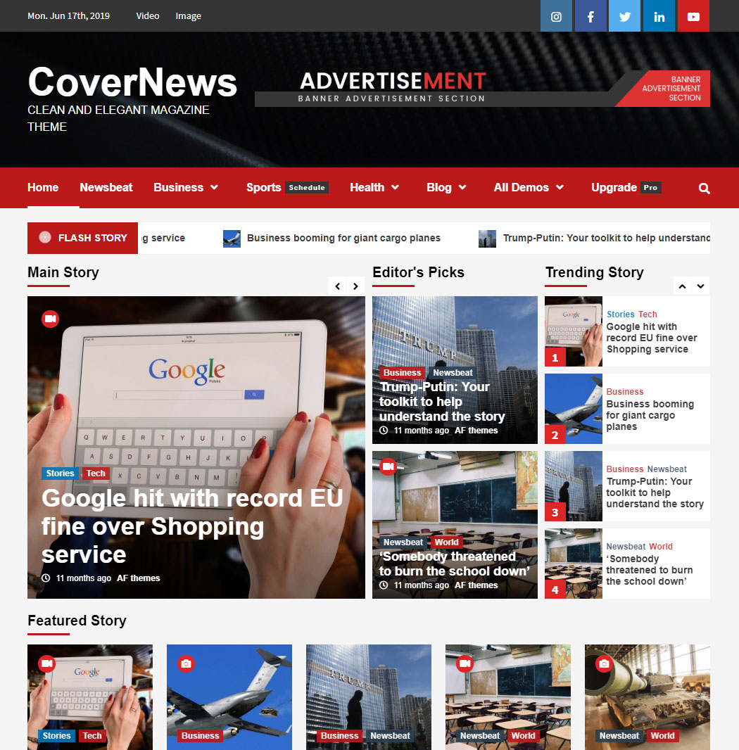 CoverNews WordPress Theme