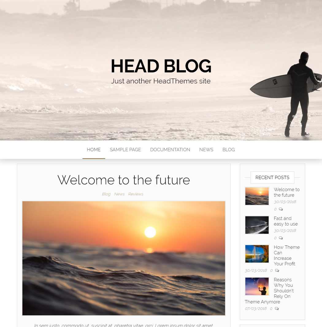 Head Blog WordPress Theme