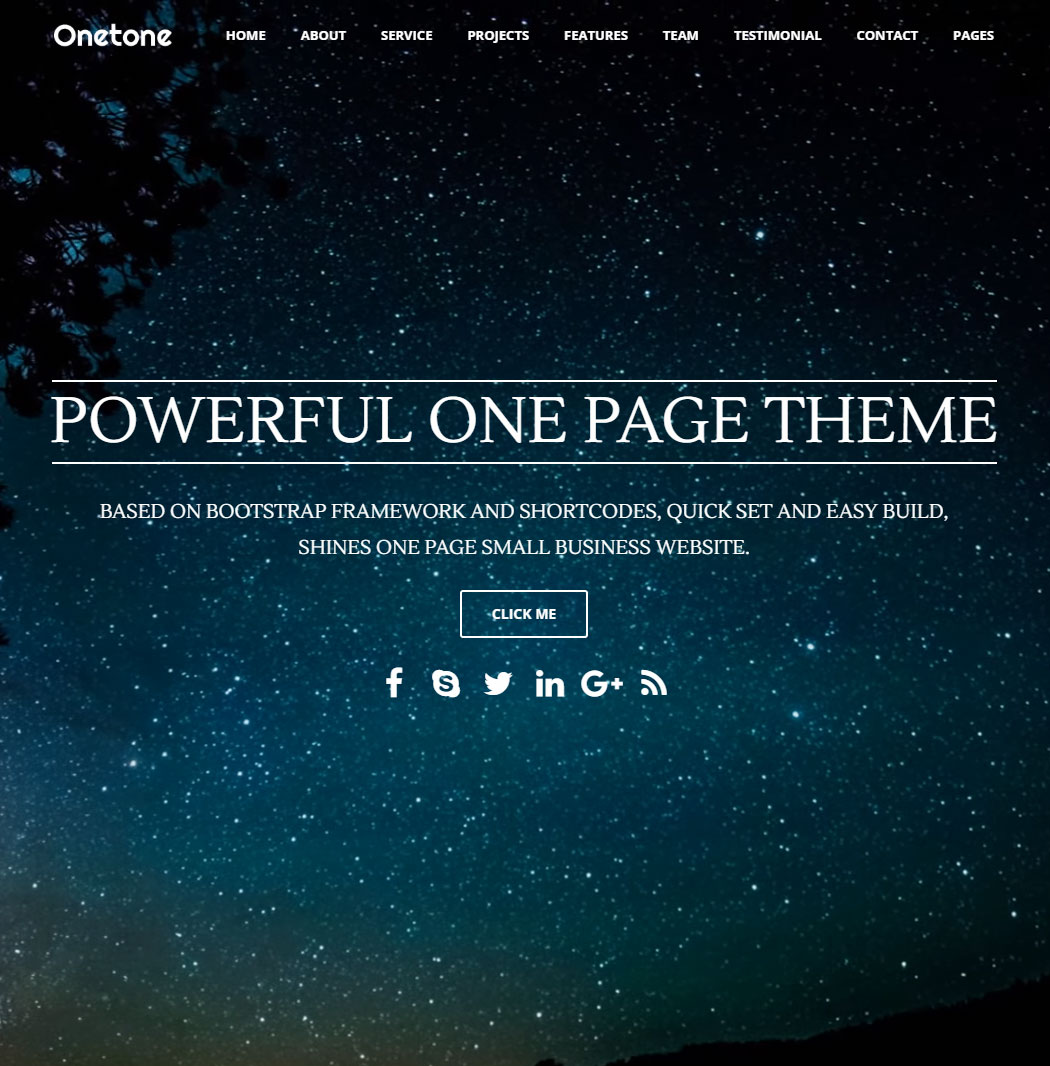 Onetone WordPress Theme