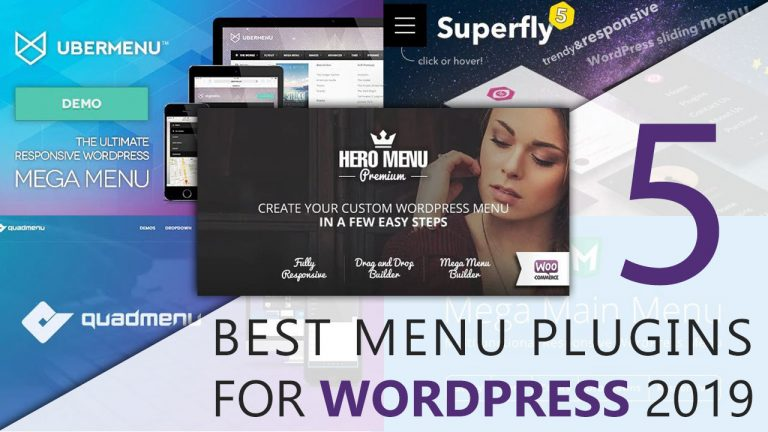 5 Best Menu Plugins for WordPress 2019