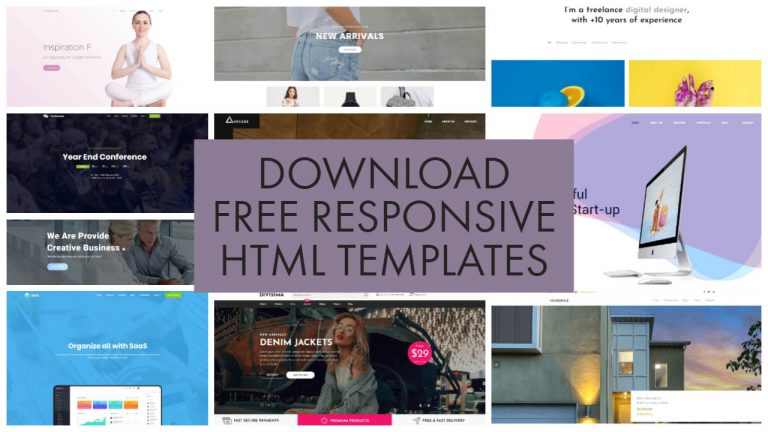 Download Free Responsive HTML Templates