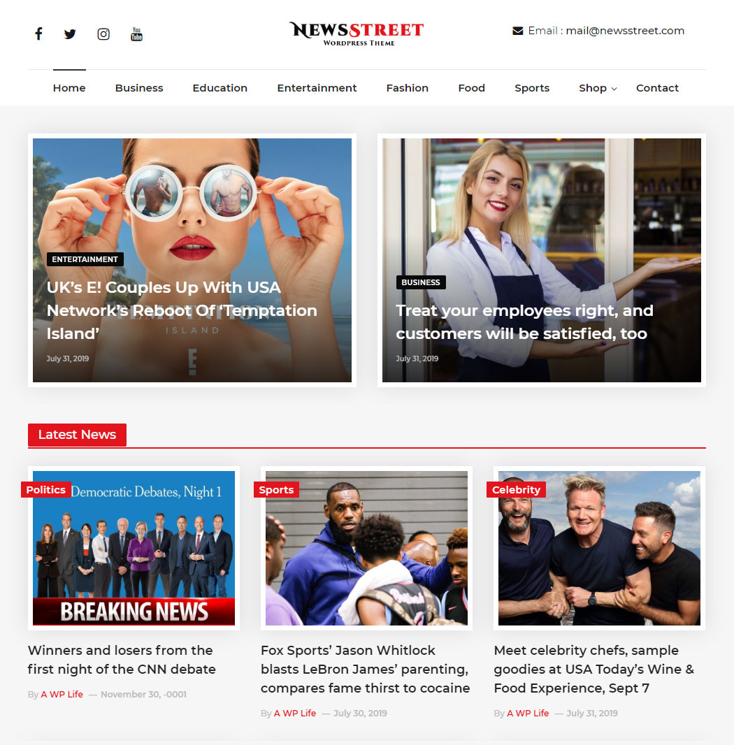 NewsStreet-Free-WordPress-Theme-For-News-and-Magazine