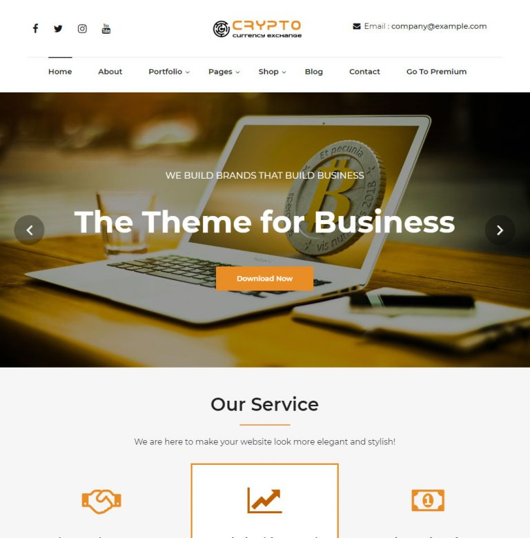 cryptocurrency exchange WordPress theme