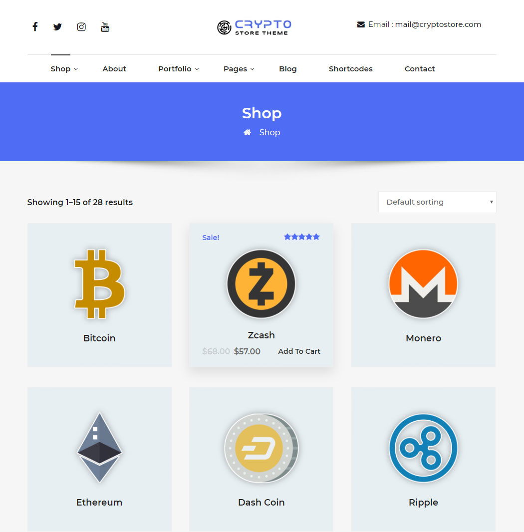 cryptostore WordPress theme