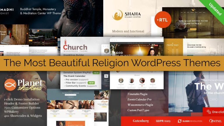 The Most Beautiful Religion WordPress Themes