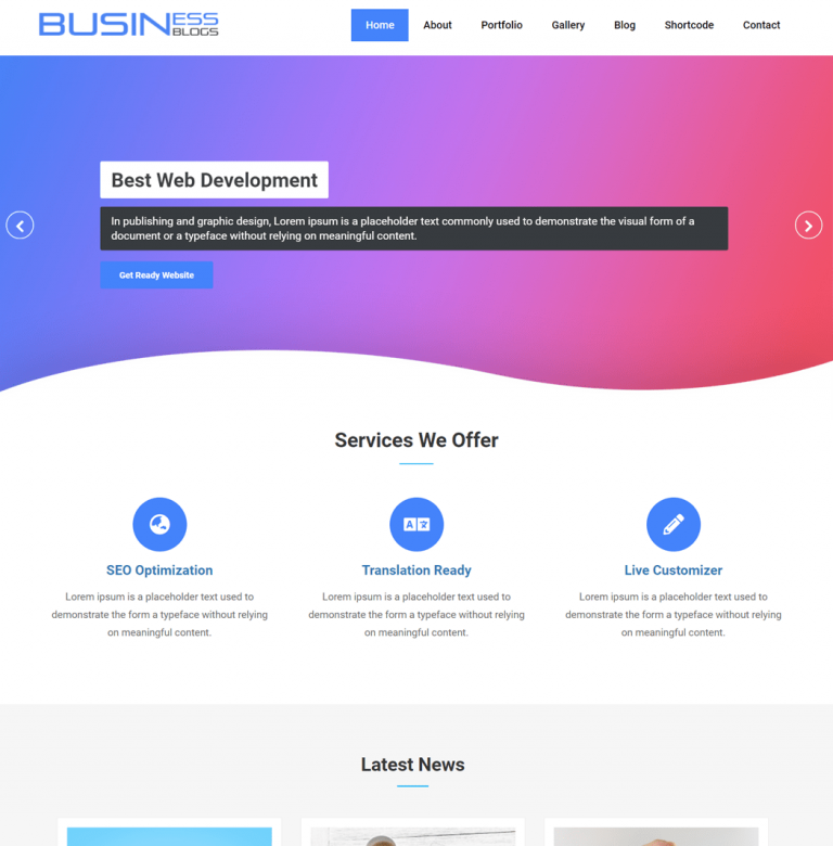 Business Blog - WordPress Theme For Blog