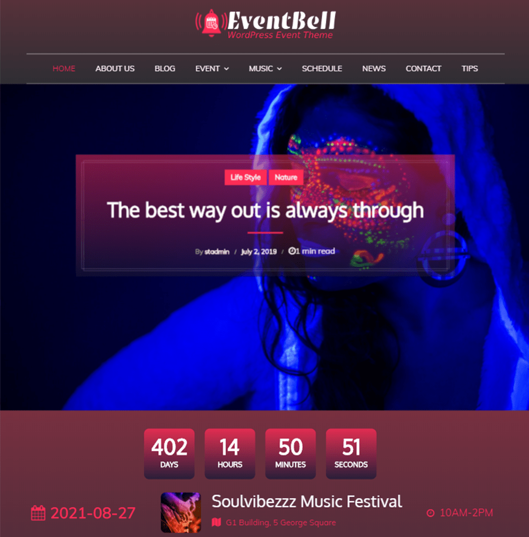 EventBell Sensational Theme Sites