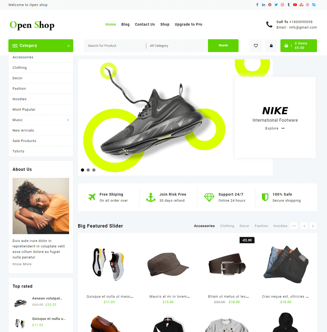 Open Shop WordPress Theme
