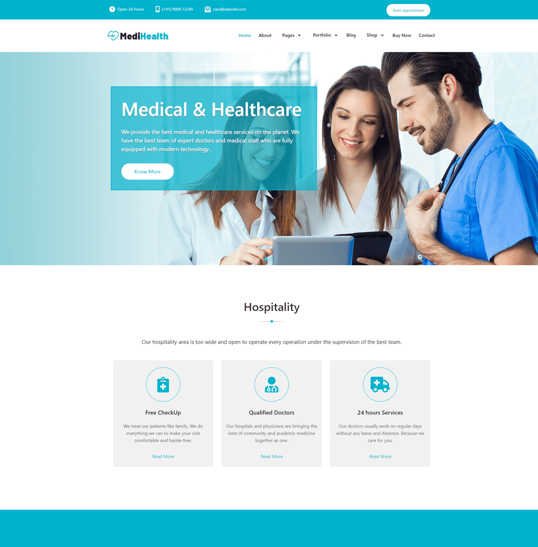 MediHealth - Free Medical WordPress Theme