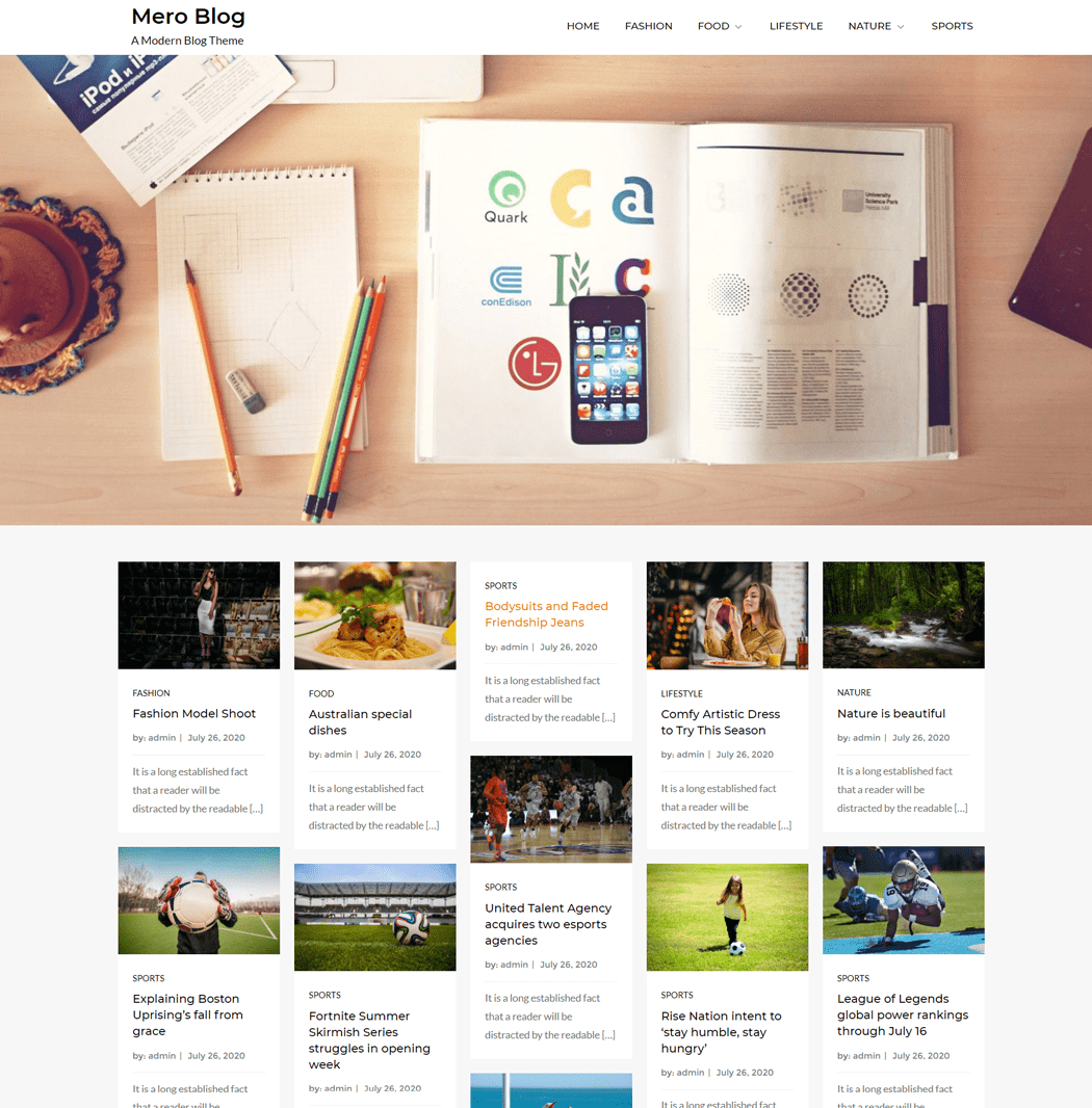 MeroBlog WordPress Free Theme