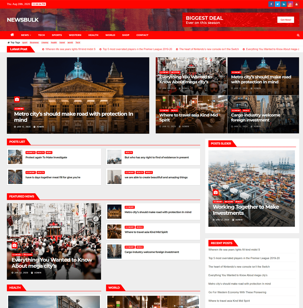 Newsbulk WordPress Theme
