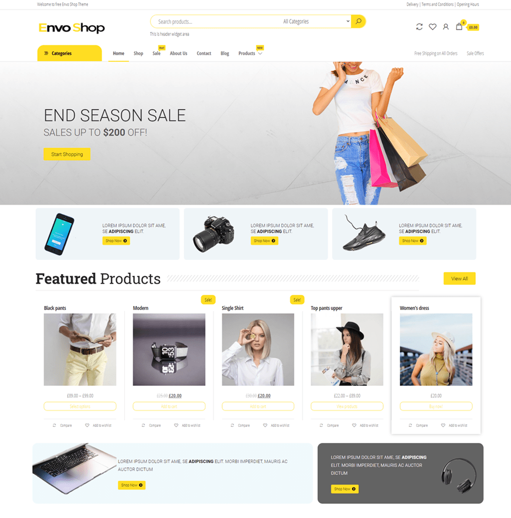 envo shop WordPress Theme
