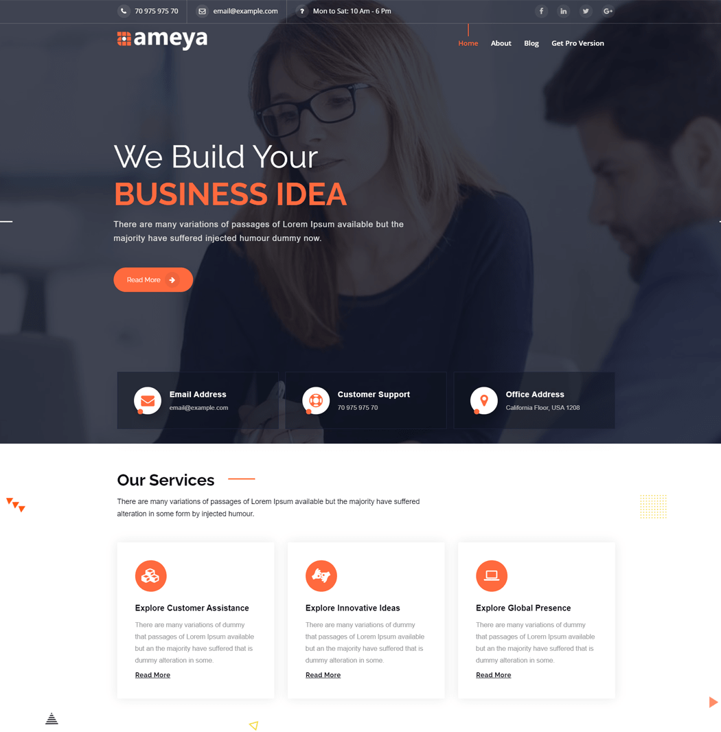 Ameya-WordPress-Theme