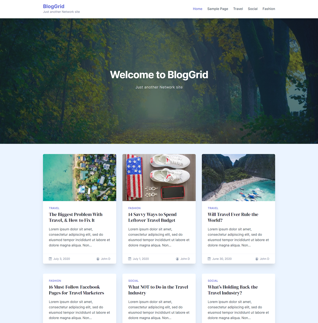 BlogGrid-WordPress-Theme