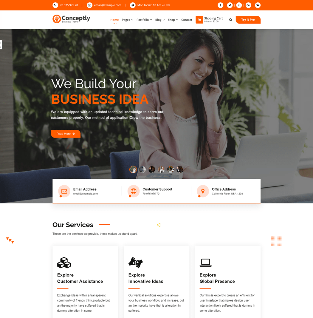 Conceptly-WordPress-theme