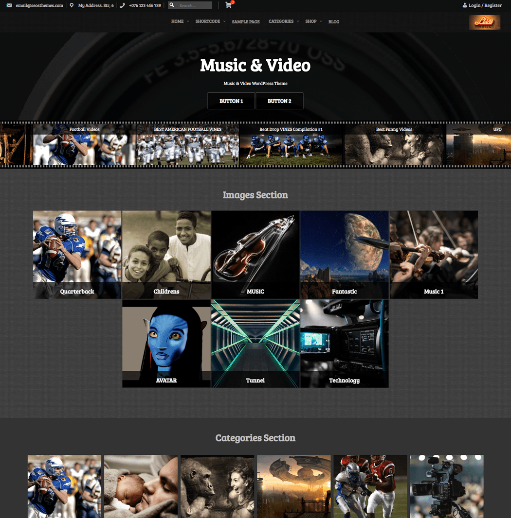 Music-Video-WordPress-Theme