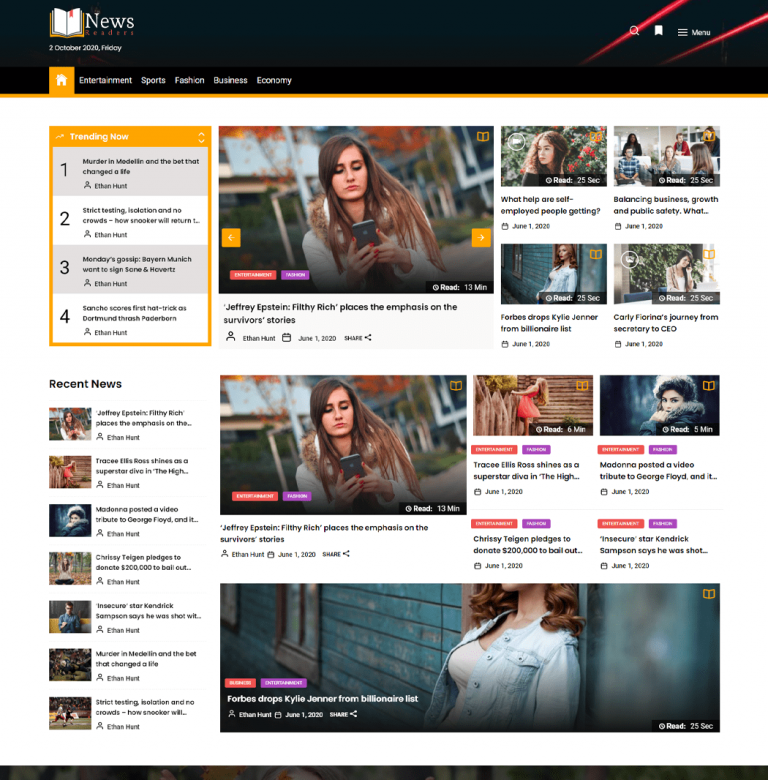 Newsreaders WordPress Theme