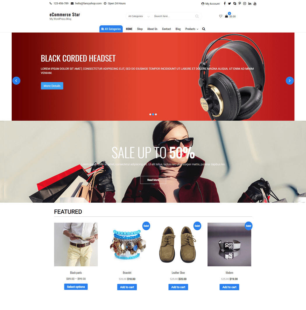 eCommerce Star WordPress Theme