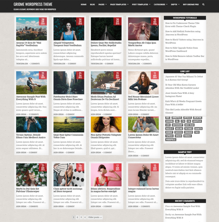 gridme WordPress Theme