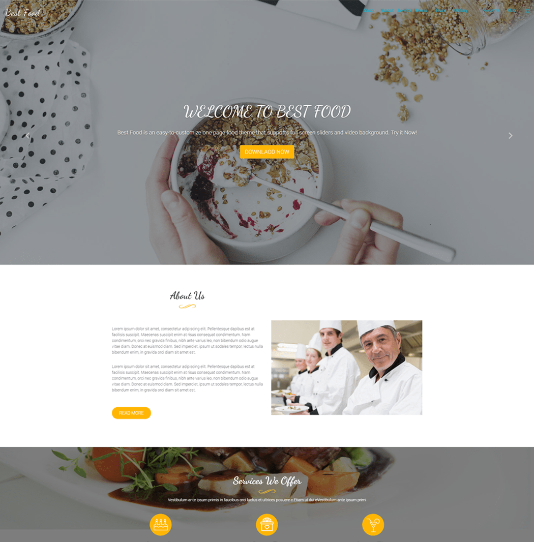 Best Food Pro WordPress theme