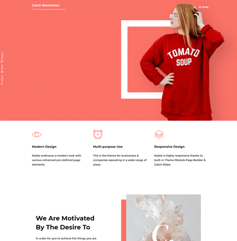 Catch Revolution is a free multipurpose WordPress theme that is clean
