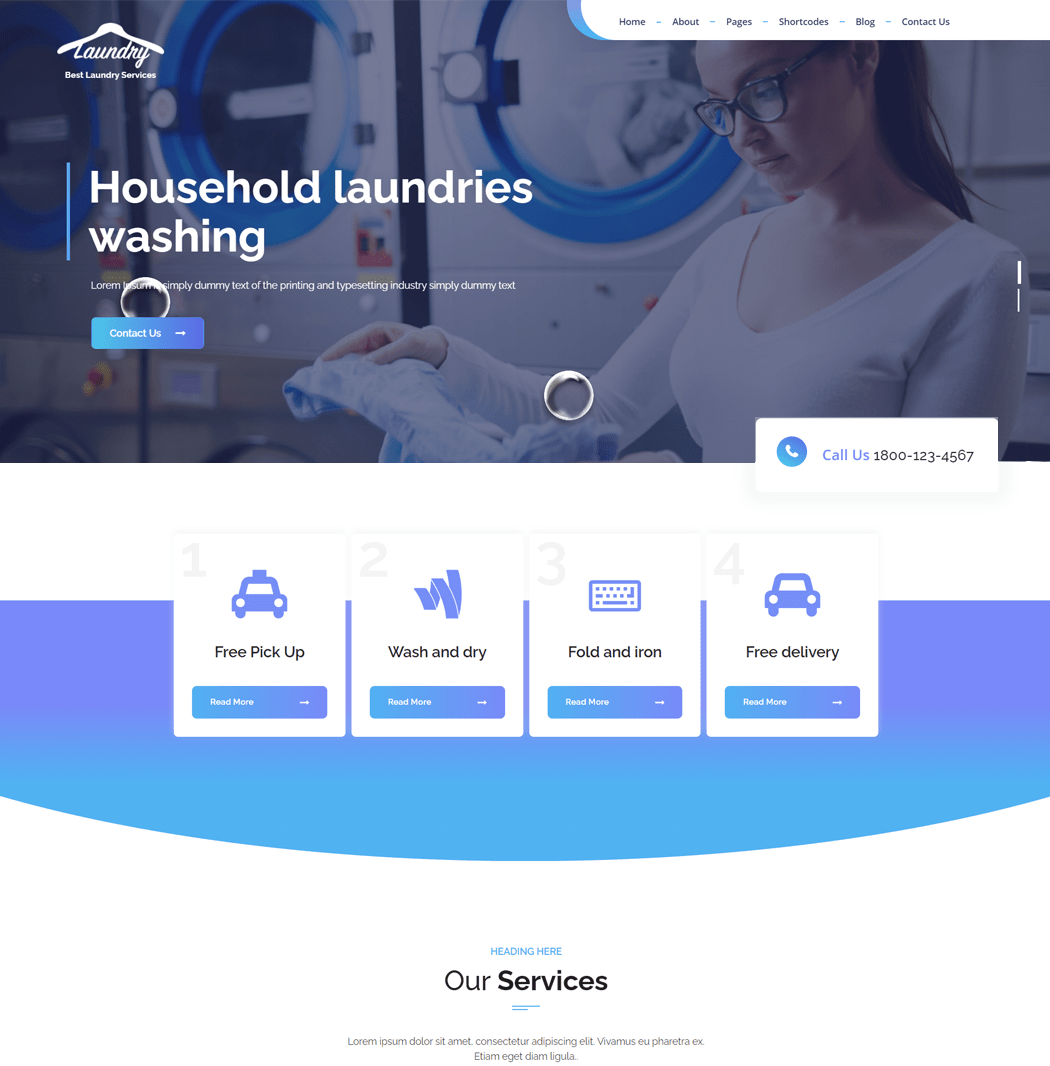 Laundry Master WordPress Theme
