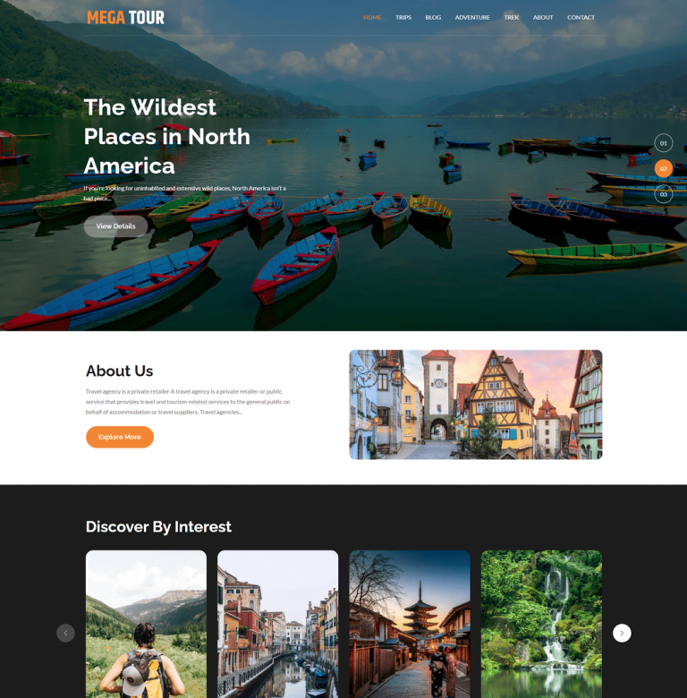 Mega Tour is a mobile responsive and super customizable