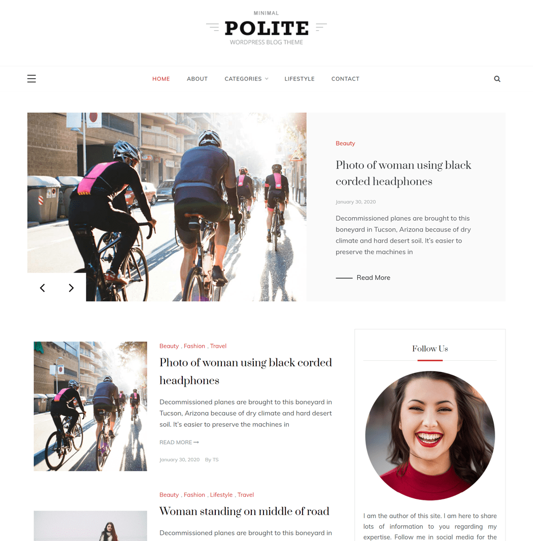 Polite Grid - A perfect theme for blog and magazine site