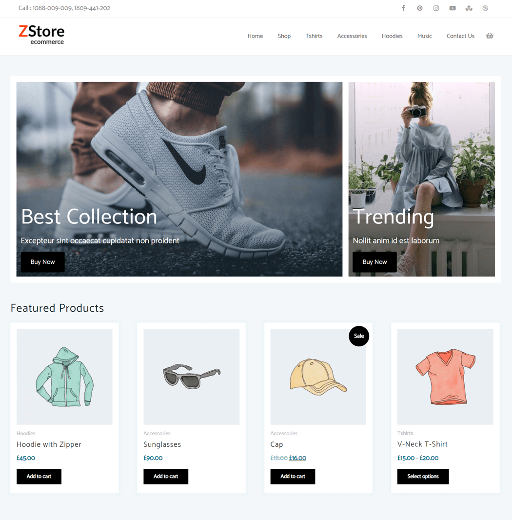 Zita Storefront is a child theme of zita WordPress theme