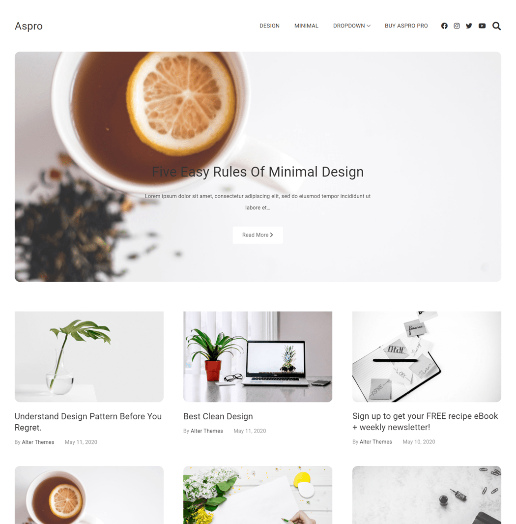 Aspro is a clean, minimal and beautifully layout design WordPress theme
