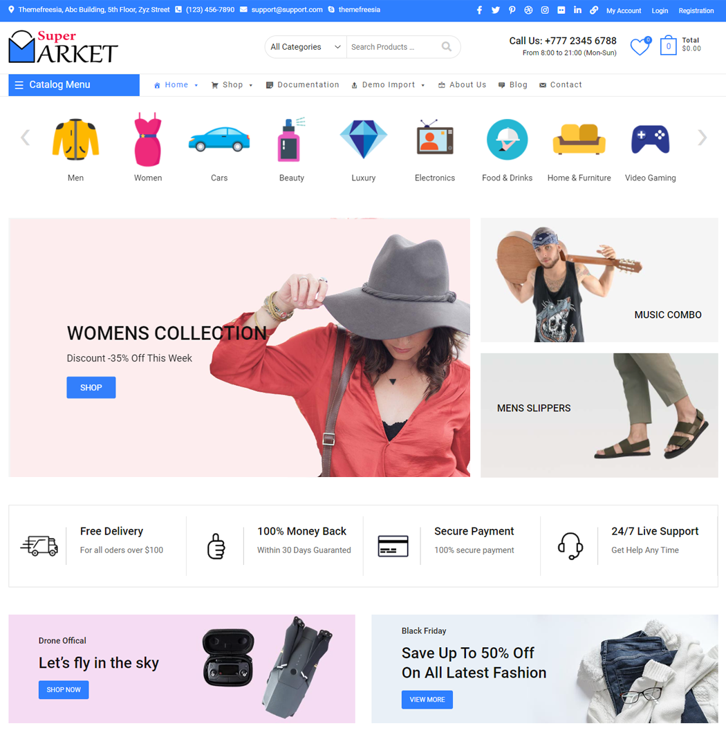Supermarket is the perfect theme for WooCommerce Store