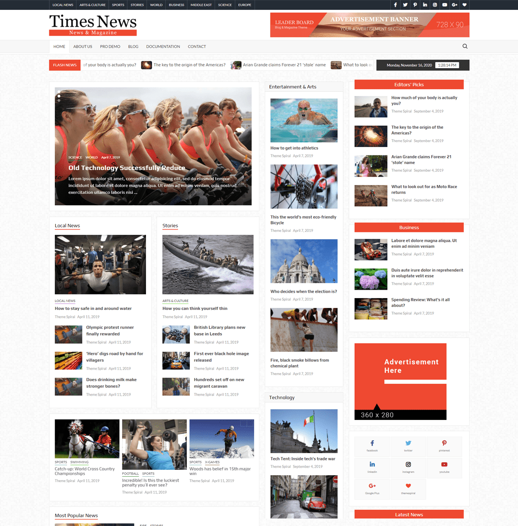 TimesNews Magazine theme is an amazing modern WordPress theme