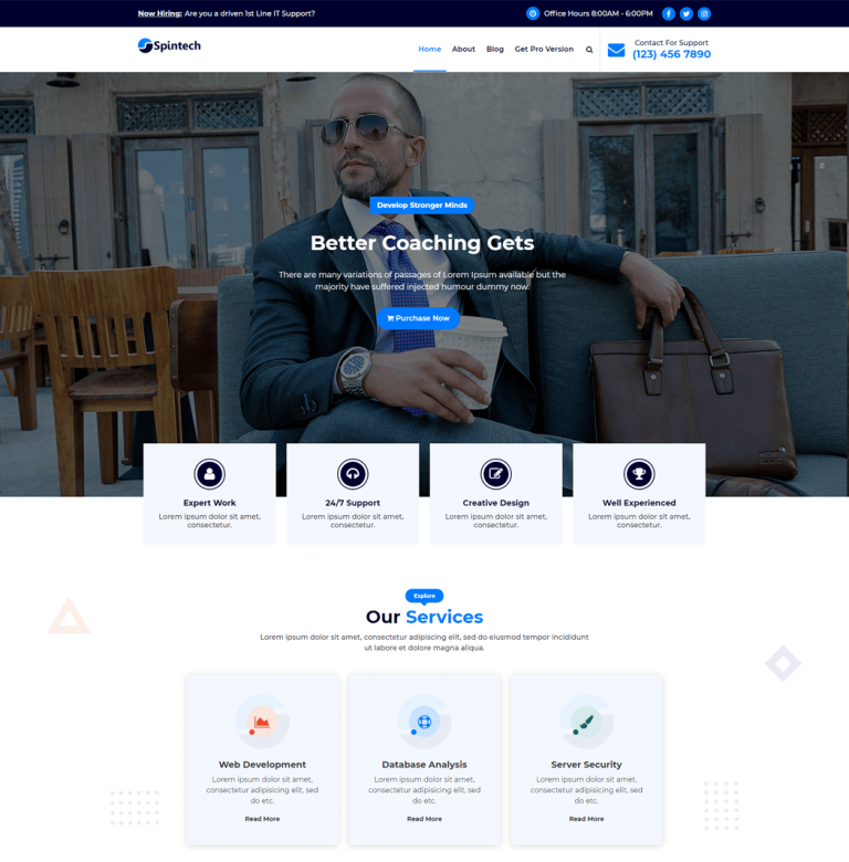 Spintech WordPress theme is specially designed for an IT & Software Company