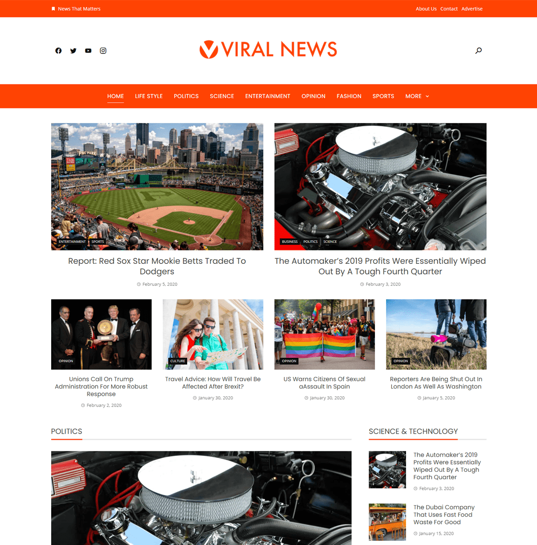 Viral-News-Free-Magazine-WordPress-Theme