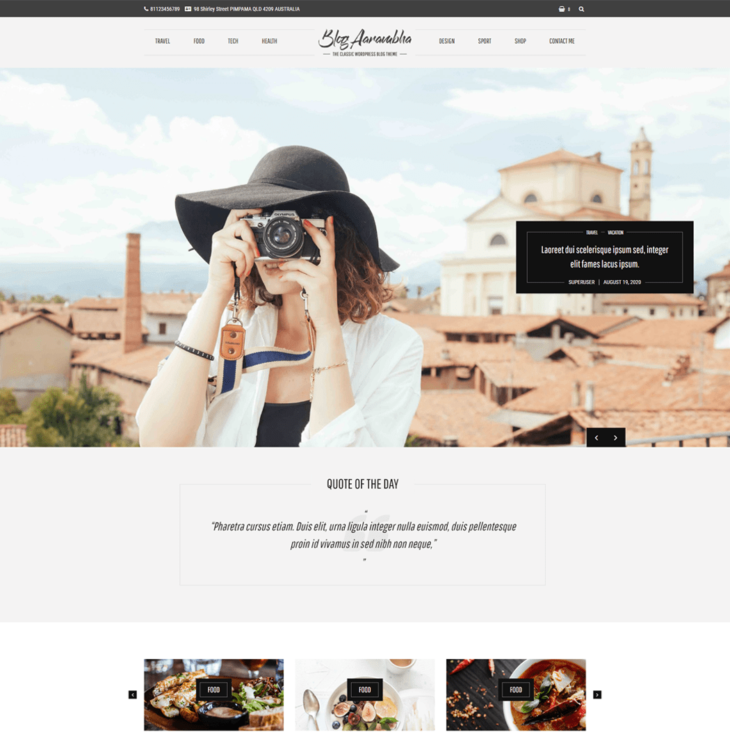 Blog Aarambha WordPress Theme for any category