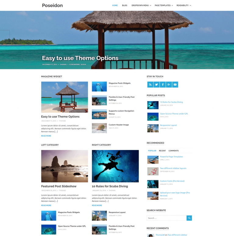 Poseidon is an elegantly designed WordPress theme