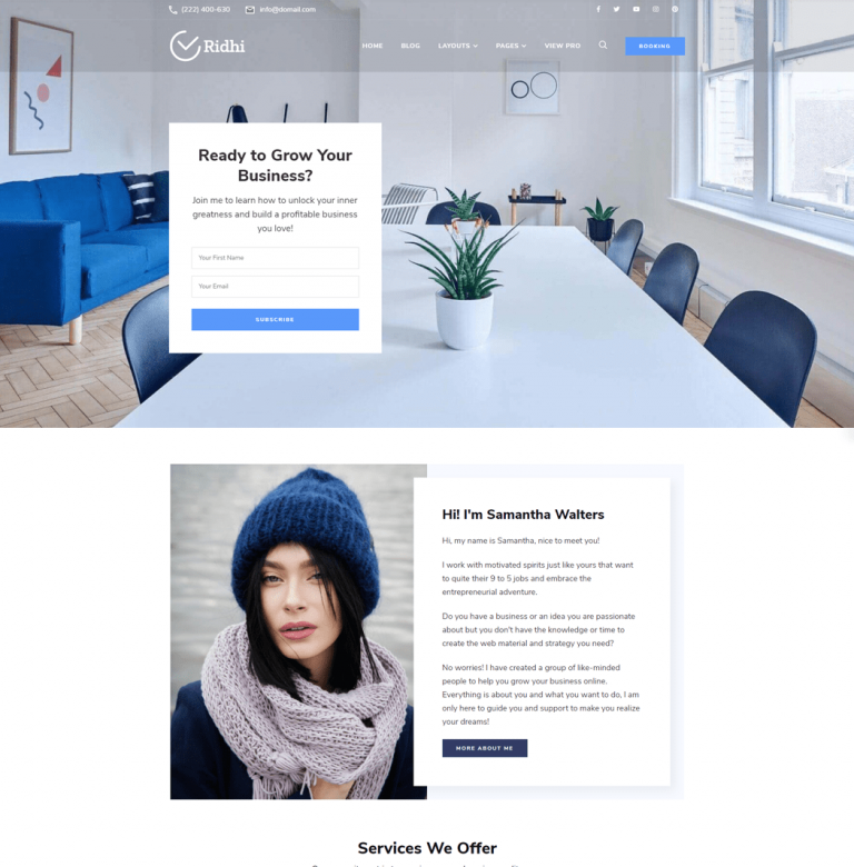 Ridhi is a lead-generating WordPress theme