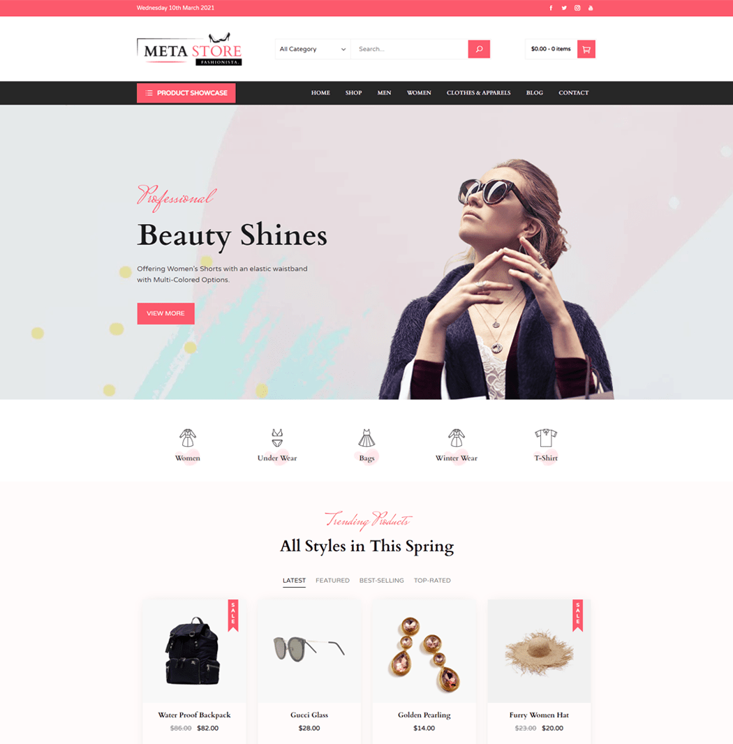 Meta Store is a multi concept eCommerce WordPress theme
